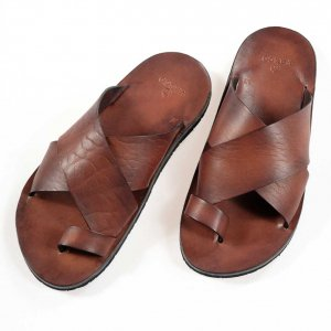 LEATHER NELSON SANDAL BROWN