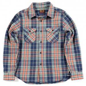 502051 ヘビーネルシャツ ネイビー