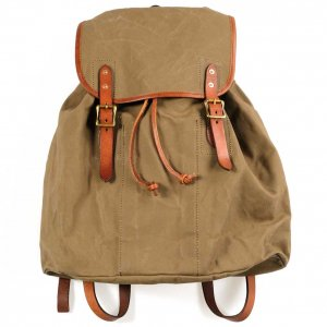 VS-204P 2 CANVAS×LEATHER ARMY RUCKSACK TYPE 2 OLIVE DRAB×CAMEL