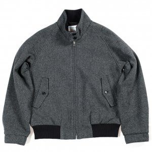Harrington Jacket, Grey Herringbone Tweed