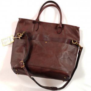 VS-244LS LEATHER NELSON 2WAY BAG BROWN