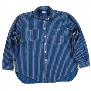 <img class='new_mark_img1' src='https://img.shop-pro.jp/img/new/icons55.gif' style='border:none;display:inline;margin:0px;padding:0px;width:auto;' />Detachable Collar Work Shirt Indigo Wabash