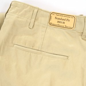 Workers Officer Trousers, Standard Fit, Type 1, Light Beige <img class='new_mark_img2' src='https://img.shop-pro.jp/img/new/icons9.gif' style='border:none;display:inline;margin:0px;padding:0px;width:auto;' />