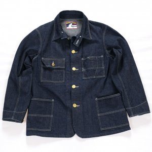 Queen of the road, Railroad Jacket, 10.5oz Right Hand Indigo Denim, OW<img class='new_mark_img2' src='https://img.shop-pro.jp/img/new/icons9.gif' style='border:none;display:inline;margin:0px;padding:0px;width:auto;' />
