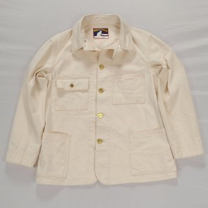 Queen of the road, Railroad Jacket, 10.5oz Right Hand White Denim, OW<img class='new_mark_img2' src='https://img.shop-pro.jp/img/new/icons9.gif' style='border:none;display:inline;margin:0px;padding:0px;width:auto;' />