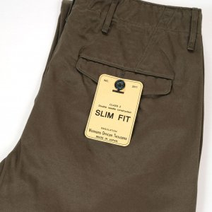 Workers Officer Trousers Slim Fit Type 2 Olive Chino<img class='new_mark_img2' src='https://img.shop-pro.jp/img/new/icons9.gif' style='border:none;display:inline;margin:0px;padding:0px;width:auto;' />