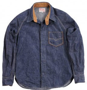 <img class='new_mark_img1' src='https://img.shop-pro.jp/img/new/icons55.gif' style='border:none;display:inline;margin:0px;padding:0px;width:auto;' />7640  40'S DENIM SHIRT