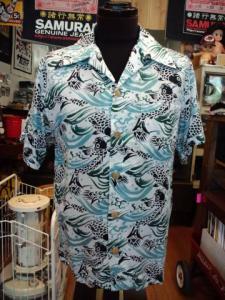SSA01  ハワイアンシャツ(ネイビー)