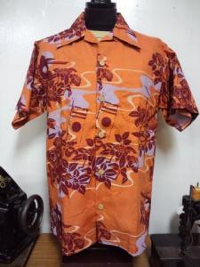SSA07 ハワイアンシャツ(オレンジ)
