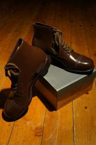 STRAIGHT TIP BOOTS(BROWN)