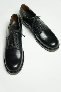 Plane-toe Shoes,Narrow Pock-toe(Annonay Black)