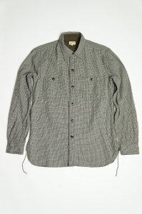 2 POCKETS WORK SHIRT,WOOL×COTTON(WHITE)