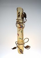 LEGRAS Japonesque Enamel Vase
