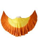 【アウトレット】25ヤード スカート(イエロー×オレンジ)