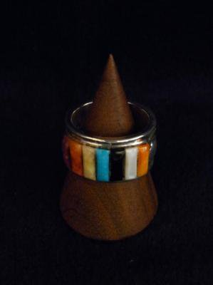 RAY ADAKAI-inlay ring fiesta(S)