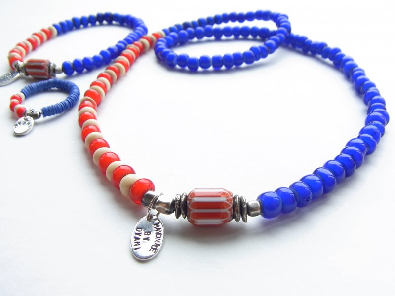 【DYANI】(ディアニ) COLORS USA Old Beads & Beads Necklace