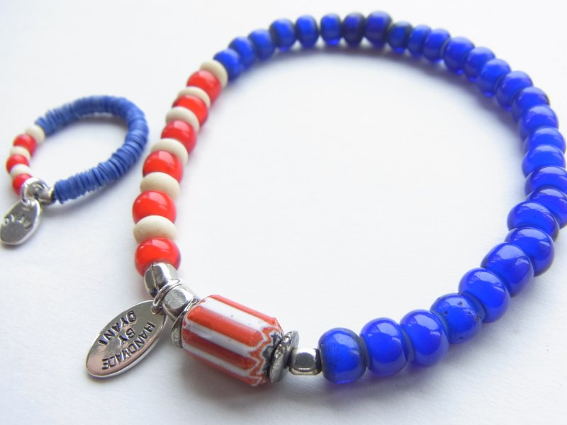 【DYANI】(ディアニ)  COLORS USA Old Beads & Beads Bracelet