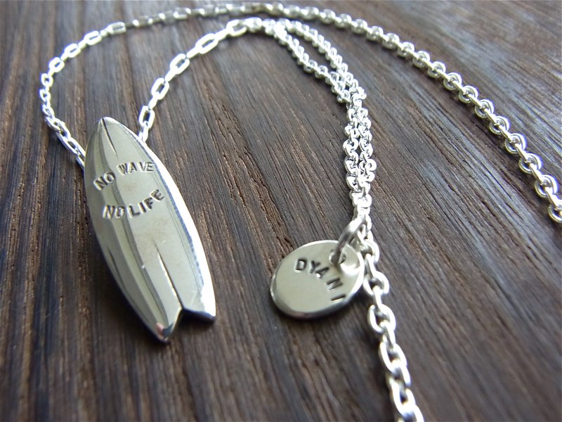【DYANI】(ディアニ)  NO WAVE NO LIFE / SV SURFBOARD Necklace