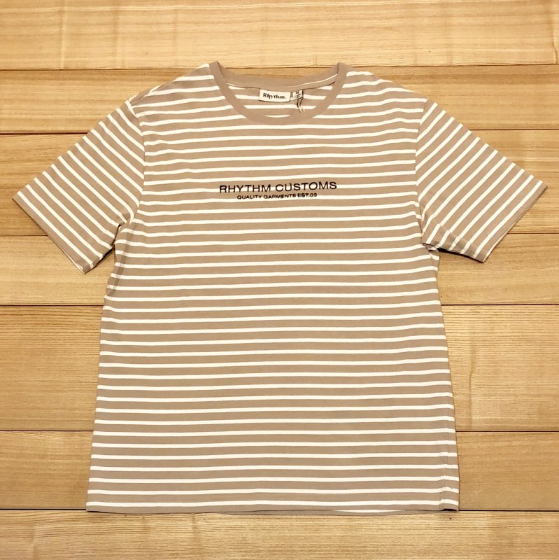 30%OFF【RHYTHM】(リズム)STUDIO STRIPE T-SHIRT JUL18M-CT05