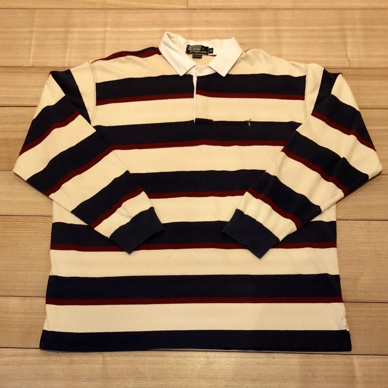 【USED】(ユーズド)POLO by Ralph Lauren RUGBY SHIRT ラガーシャツ 180908R5