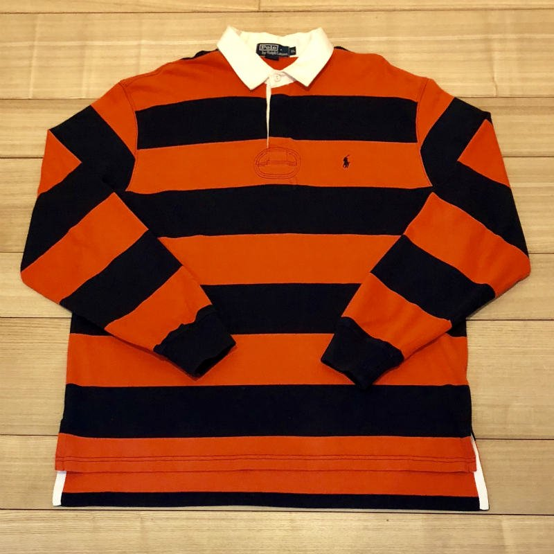 【USED】(ユーズド)POLO by Ralph Lauren RUGBY SHIRT ラガーシャツ 180908R6