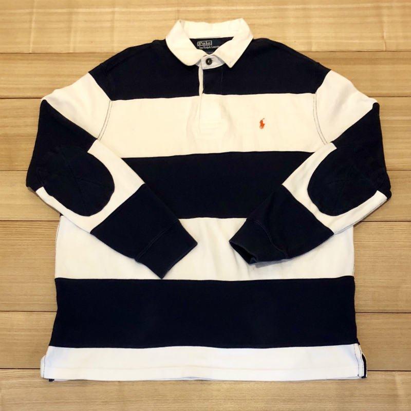 【USED】(ユーズド)POLO by Ralph Lauren RUGBY SHIRT ラガーシャツ 180908R7
