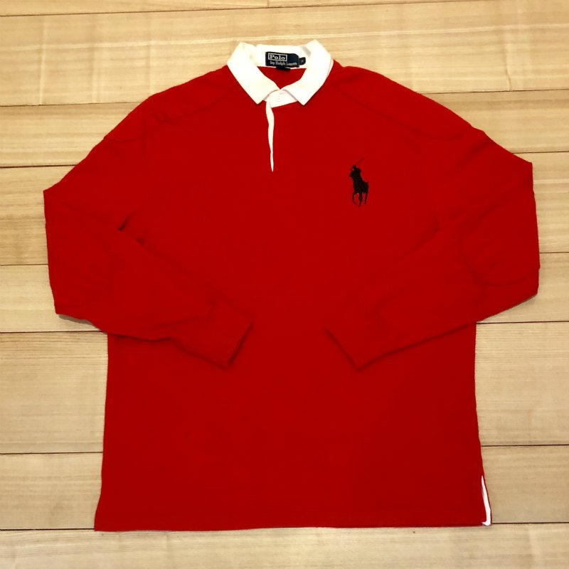 【USED】(ユーズド)POLO by Ralph Lauren RUGBY SHIRT ラガーシャツ 180908R8