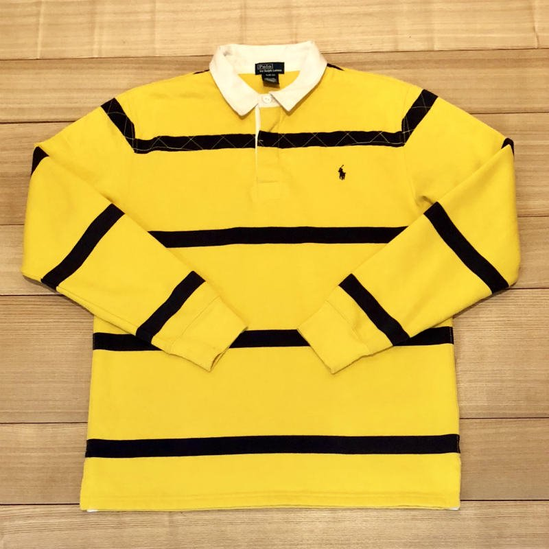 【USED】(ユーズド)POLO by Ralph Lauren RUGBY SHIRT ラガーシャツ 180908R10