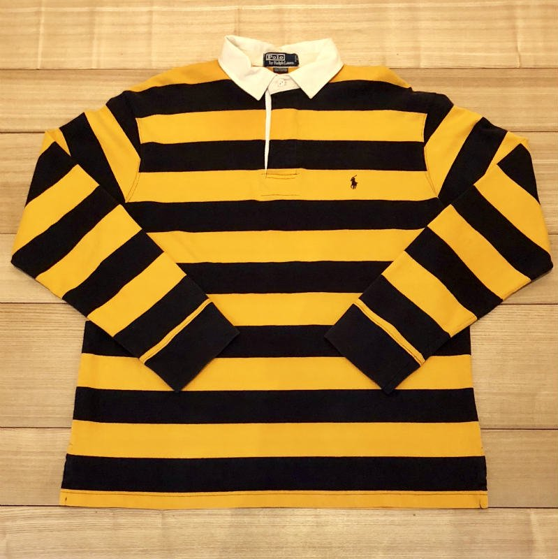【USED】(ユーズド)POLO by Ralph Lauren RUGBY SHIRT ラガーシャツ 180908R11