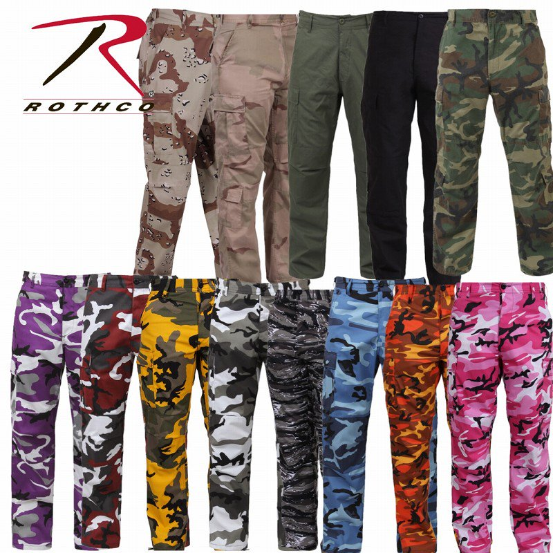 【ROTHCO】(ロスコ)COLOR CAMO BDU PANTS カモパンツ USFM1810