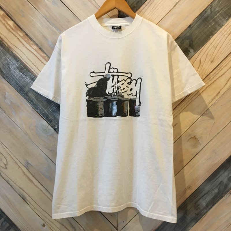 USED【STUSSY】(ステューシー) 00s Old Stussy Print S/S Tee ステューシー Tシャツ