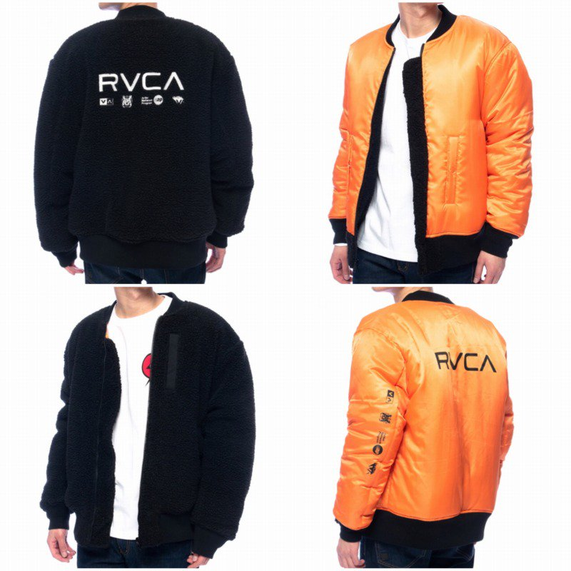 <img class='new_mark_img1' src='https://img.shop-pro.jp/img/new/icons5.gif' style='border:none;display:inline;margin:0px;padding:0px;width:auto;' />21AW【RVCA】(ルーカ)メンズ HOTH MA-1 JACKET リバーシブル ジャケット BB042761