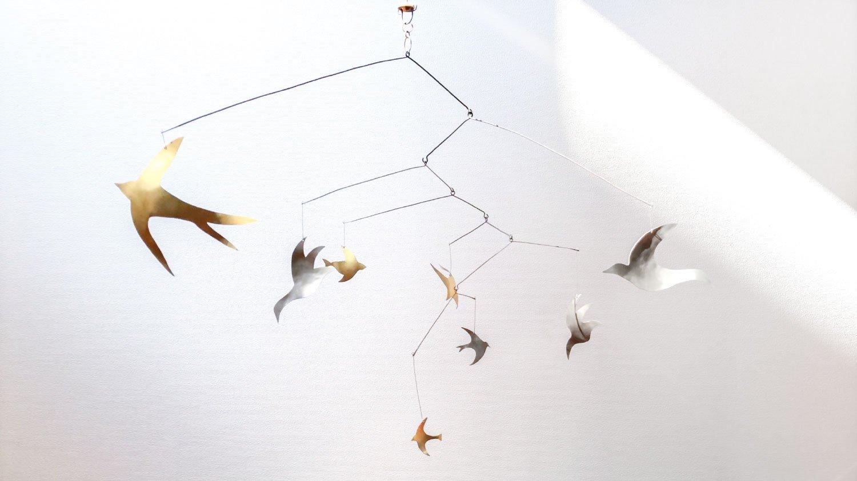 鳥のモビール|cicafu × tuitree