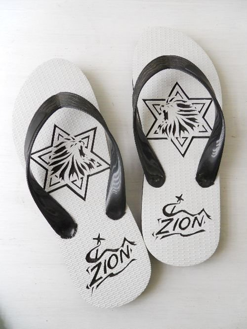 JUNNO slippers ZION黒|南国島草履