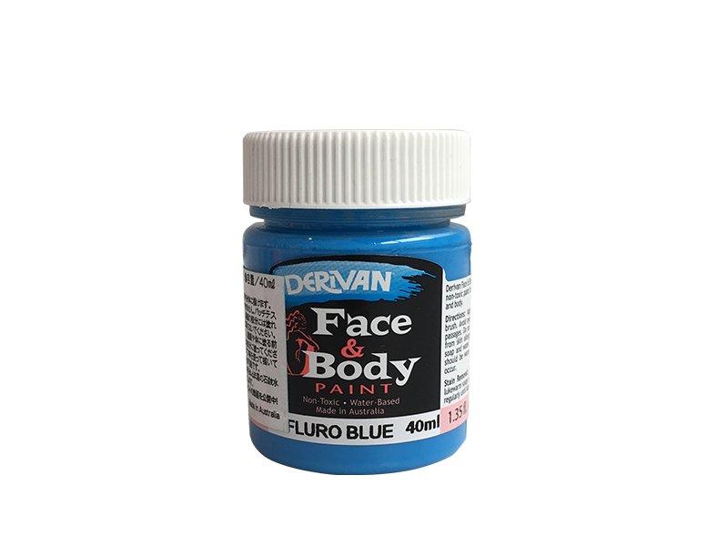 デリバン(DERIVAN) フェイス&ボディペイント 蛍光ブルー  40ml×1個(ブラックライト対応)