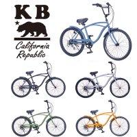 KB/ケイビービーチクルーザー 24インチ 外装6段ギア RAINBOW PRODUCTS