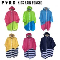 PORD Kids Rainwear PONCHO / ポードキッズレインウェア 子供用ポンチョ<img class='new_mark_img2' src='https://img.shop-pro.jp/img/new/icons61.gif' style='border:none;display:inline;margin:0px;padding:0px;width:auto;' />