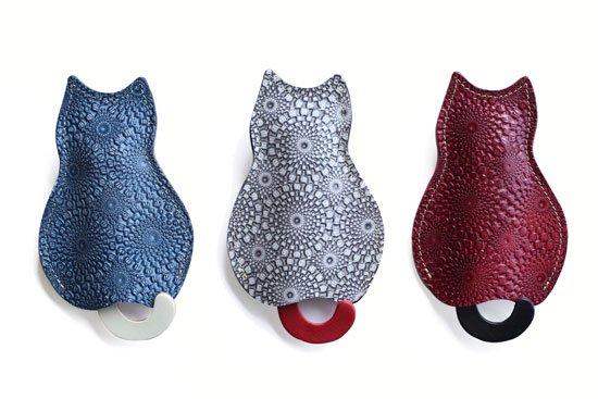 【猫グッズ】猫のうしろすがたをしたキーケース限定カラー 「ITALIA」クアトロガッツ
