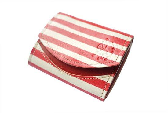 2016年9月:今月の小さいふ。楳図かずお「赤白ボーダー」×クアトロガッツ 小さい財布 ペケーニョ