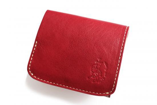 【極小財布・小さい財布】小さいふ。コンチャ【イタリアン タンポナートレザー】ロッソ