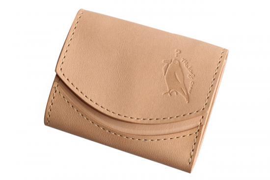 小さい財布 小さいふ。栃木レザー素-su-シリーズ「ペケーニョ kara素(su)」素上げヌメ革