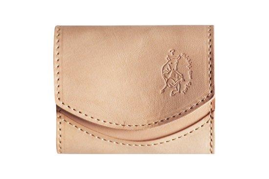 小さい財布 小さいふ。栃木レザー素-su-シリーズ「ペケーニョ 考える牛ロゴ」素上げヌメ革