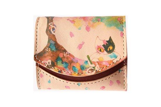 小さい財布 小さいふ。アートシリーズ「ペケーニョ 漫画家 悠木灯  おさかな桜を描くあたし」