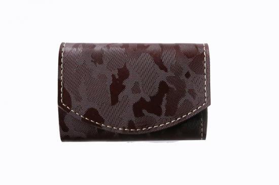 2017年6月:今月の小さいふ。SolidCamouflage 〜茶迷彩〜 ブラウン × クアトロガッツ 小さい財布 ポキート