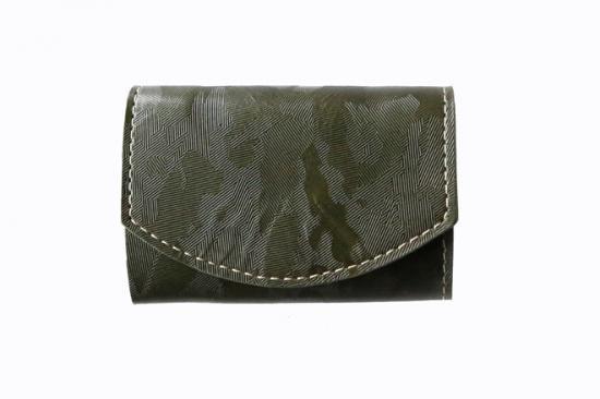 2017年6月:今月の小さいふ。SolidCamouflage 〜緑迷彩〜 グリーン × クアトロガッツ 小さい財布 ポキート