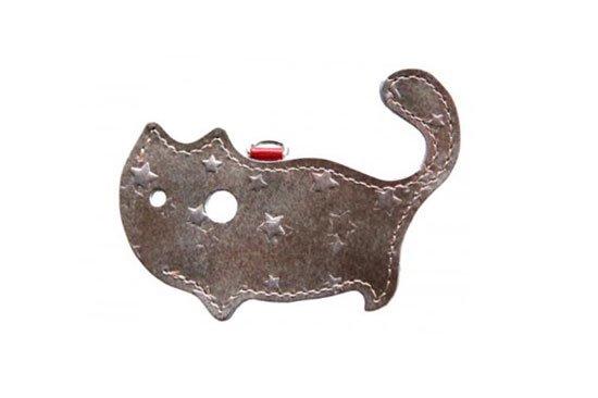 【猫グッズ】猫のかたちをしたリップクリームケース 星に願いを 〜白夜〜