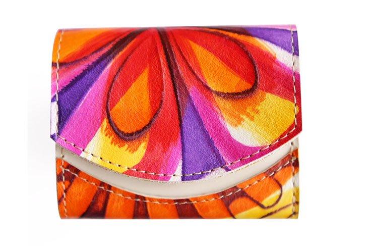 小さい財布 小さいふ。イタリアンレザー+アートシリーズ「ペケーニョ アリス 〜黄金の午後〜」