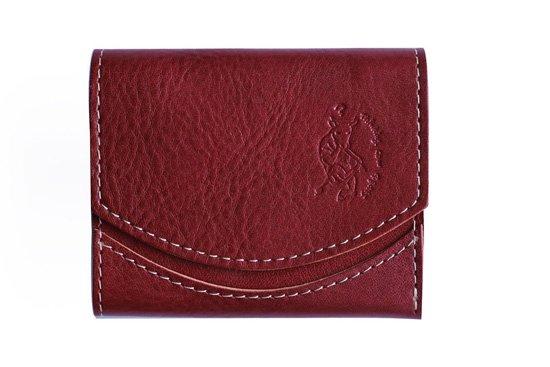 小さい財布 小さいふ。イタリアンレザーシリーズ「ペケーニョ イタリアンタンポナートレザー/ロッソ 」