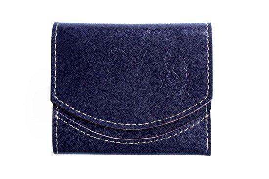 小さい財布 小さいふ。イタリアンレザーシリーズ「ペケーニョ イタリアンタンポナートレザー/マリーノ 」