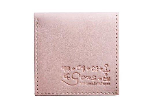 小さい財布 小さいふ。栃木レザー素-su-シリーズ「PICCOLO ピッコロ 考える牛ロゴ」素上げヌメ革